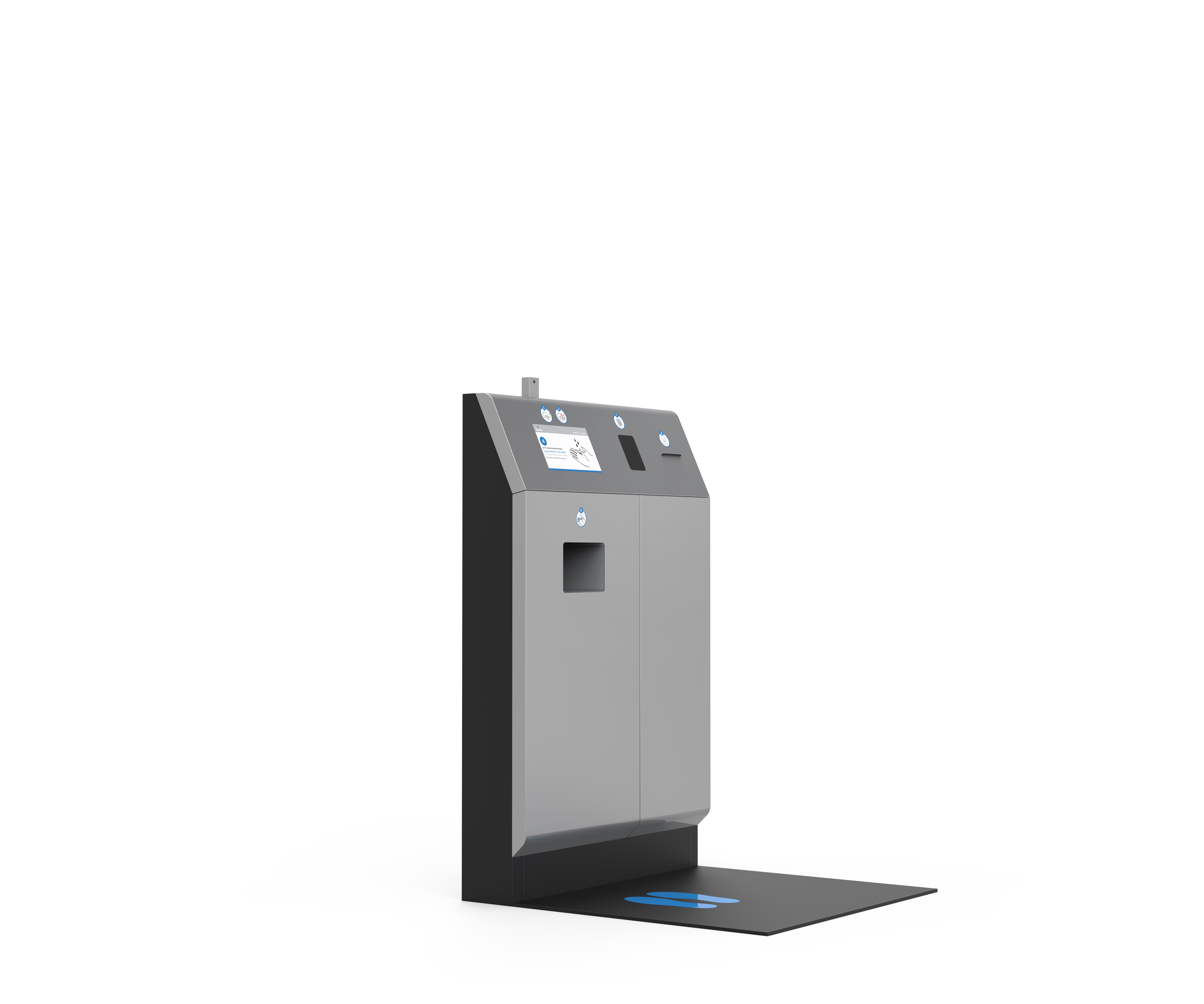 Freestanding terminal module with turnstile